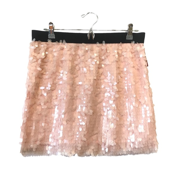 Candie's Dresses & Skirts - Candie's Sequined Pastel Pink Party Mini Skirt